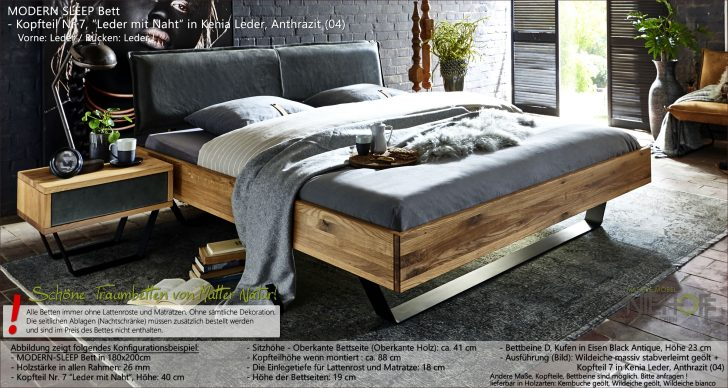 Medium Size of Modernes Massivholzbett Modern Sleep Mit Kopfteil Aus Kenia Leder Bambus Bett Sitzbank Rustikales Hülsta Boxspring Stauraum 200x200 Ruf Betten Schlicht Steens Wohnzimmer Bett Modern