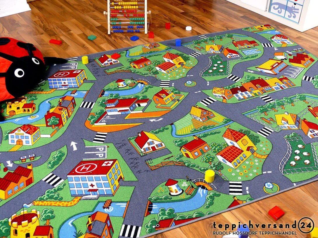 Large Size of Teppichboden Kinderzimmer Amazonde Snapstyle Spiel Teppich Little Village Grn In Regale Regal Sofa Weiß Kinderzimmer Teppichboden Kinderzimmer