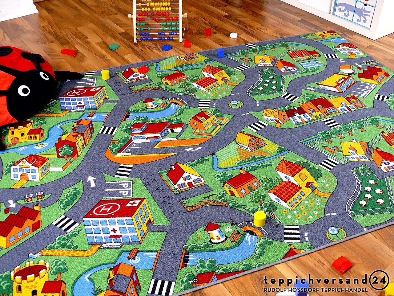 Full Size of Teppichboden Kinderzimmer Amazonde Snapstyle Spiel Teppich Little Village Grn In Regale Regal Sofa Weiß Kinderzimmer Teppichboden Kinderzimmer
