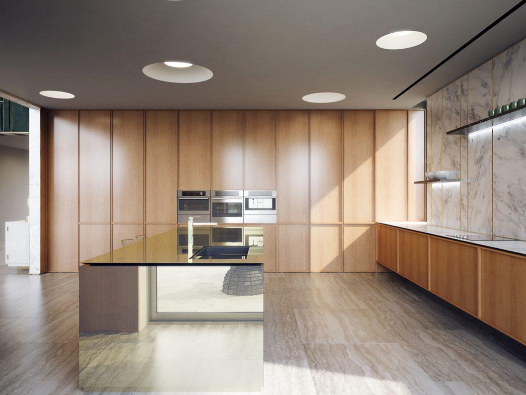Full Size of Holzküchen Luxurises Anwesen Mit Holzkche Im 50er Jahre Stil Wohnzimmer Holzküchen