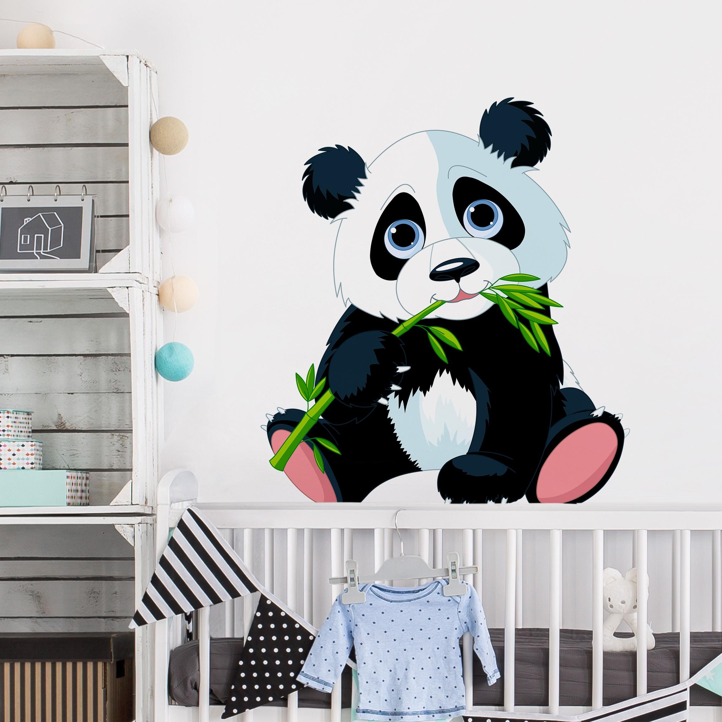 Full Size of Wandtattoo Kinderzimmer Tiere Naschender Panda Regale Küche Bad Schlafzimmer Wandtattoos Sofa Wohnzimmer Sprüche Regal Weiß Badezimmer Kinderzimmer Wandtattoo Kinderzimmer Tiere