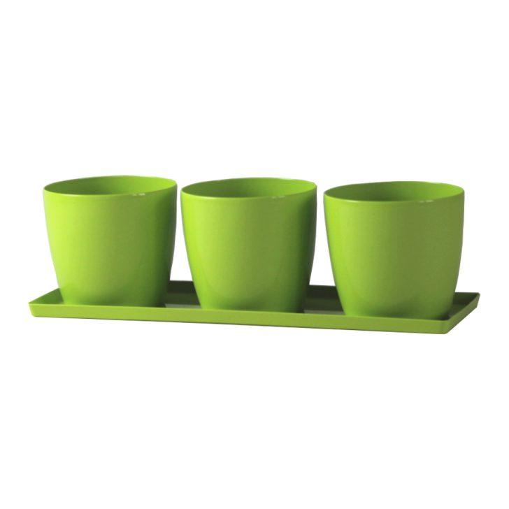 Medium Size of Krutertopf Trio Rund Madeira 11 Cm Grn Blumentopf Pflanzgef Kräutertopf Küche Wohnzimmer Kräutertopf