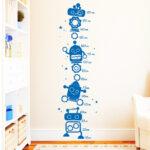 Roboter Messlatte 2 Wandtattoo Regal Kinderzimmer Weiß Sofa Regale Kinderzimmer Messlatte Kinderzimmer