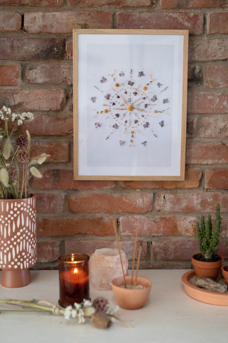 Medium Size of Wanddeko Ideen Diy Deko Mit Trockenblumen 2 Blumen Mandala Print Leelah Loves Küche Wohnzimmer Tapeten Bad Renovieren Wohnzimmer Wanddeko Ideen