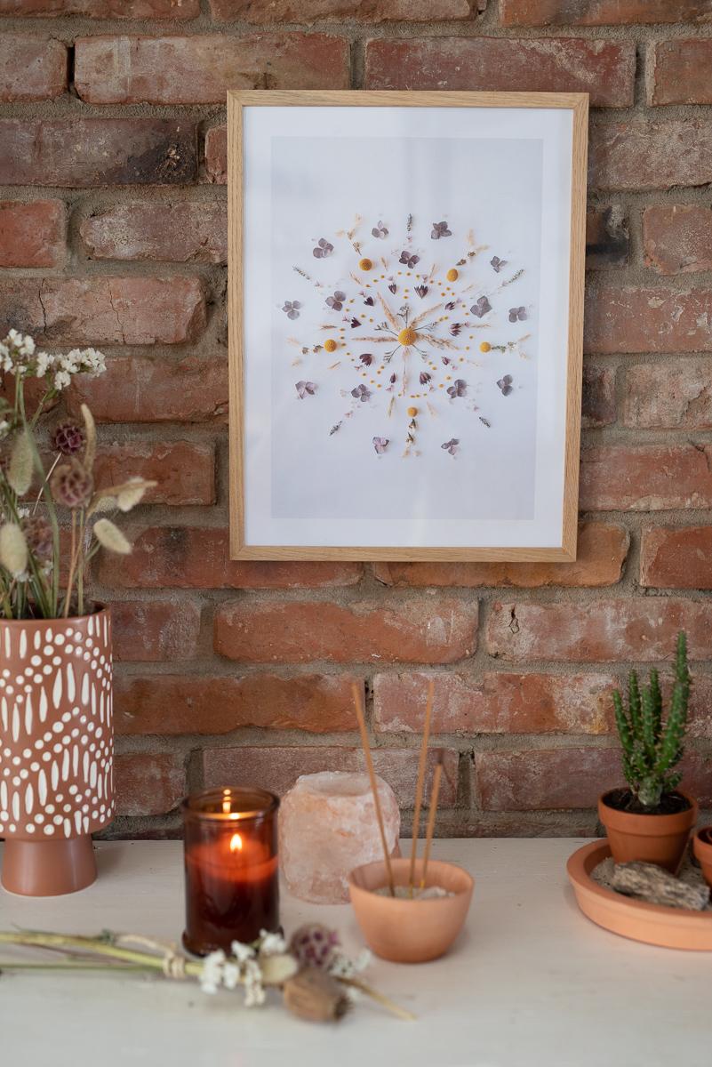 Full Size of Wanddeko Ideen Diy Deko Mit Trockenblumen 2 Blumen Mandala Print Leelah Loves Küche Wohnzimmer Tapeten Bad Renovieren Wohnzimmer Wanddeko Ideen