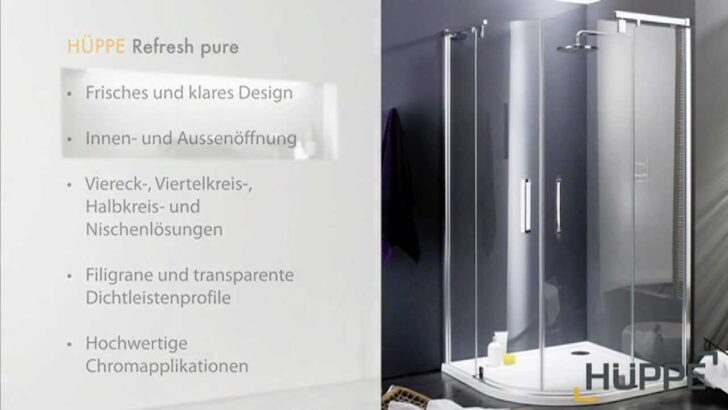 Hüppe Dusche Hppe Refresh Pure Duschabtrennung Youtube Unterputz Duschen Kaufen Breuer Badewanne Mit Tür Und Fliesen Für Kleine Bäder Eckeinstieg Moderne Dusche Hüppe Dusche