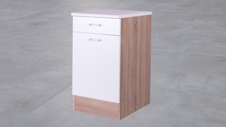 Full Size of Kchen Unterschrank Ma50 Cm Front Wei Korpus Eiche Wohnzimmer Küchenunterschrank