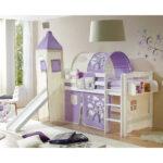 Kinderzimmer Rutsche Hochbett In Wei Lila Mit Regal Taschen Sofa Weiß Regale Kinderzimmer Garderobe Kinderzimmer
