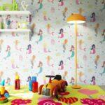 Papiertapete Blau Meerjungfrauen Meer Kinder Regale Für Keller Teppich Küche Fliesen Spiegelschränke Fürs Bad Sichtschutzfolie Fenster Kinderzimmer Regal Kinderzimmer Tapeten Für Kinderzimmer