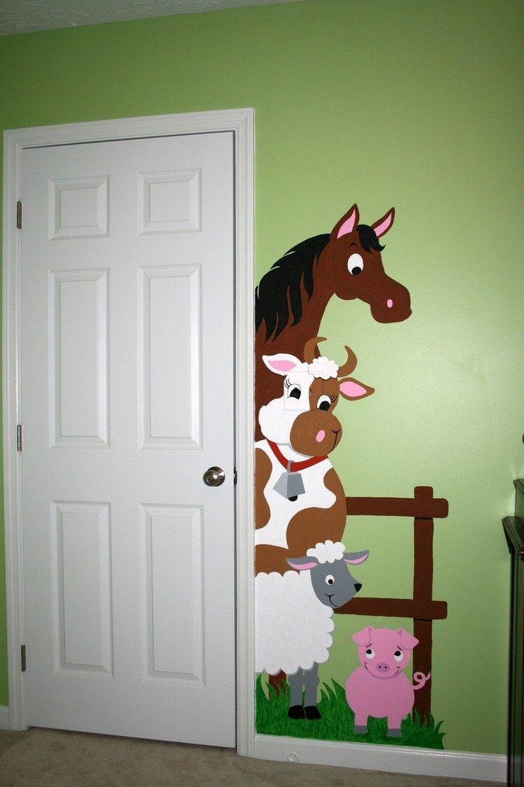 Full Size of Wandmalerei Pferd Regale Kinderzimmer Regal Weiß Sofa Kinderzimmer Wandschablonen Kinderzimmer
