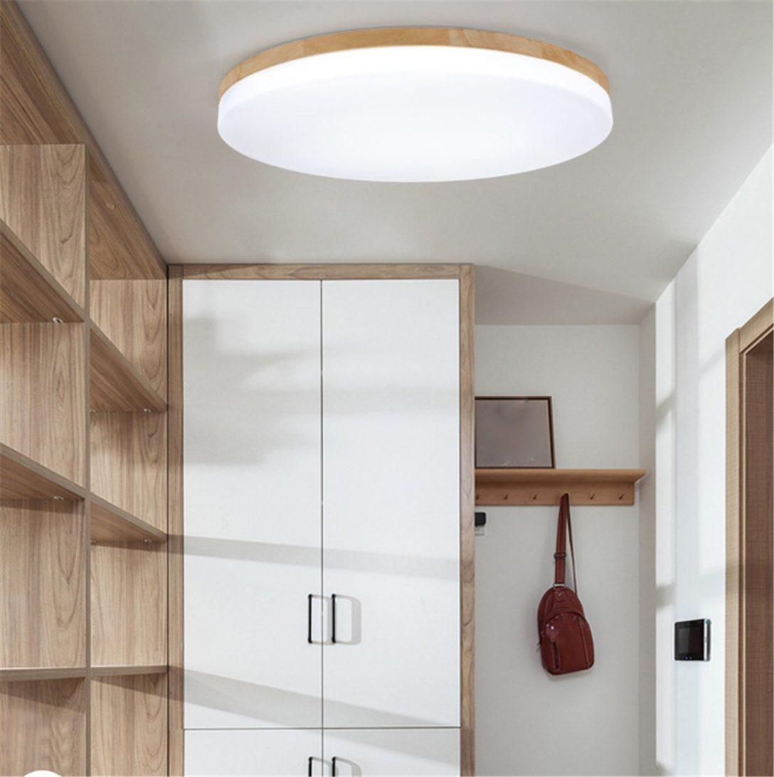 Large Size of Sjun Deckenleuchte Holz Wohnzimmer Lampe Rund Flach Badezimmer Decken Led Bad Küche Deckenlampen Deckenleuchten Schlafzimmer Decke Im Deckenstrahler Modern Wohnzimmer Holzlampe Decke