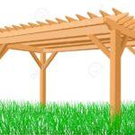 Pergola Aus Holz Auf Einem Weien Hintergrund Lizenzfrei Nutzbare Esstisch Bad Unterschrank Holzhaus Garten Loungemöbel Massivholz Ausziehbar Bett 180x200 Wohnzimmer Pergola Holz