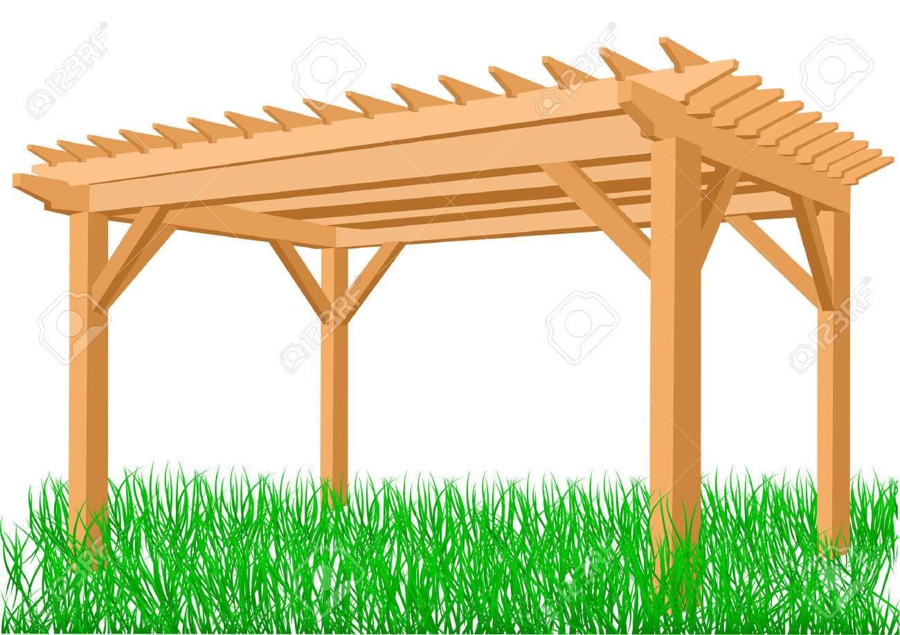 Full Size of Pergola Aus Holz Auf Einem Weien Hintergrund Lizenzfrei Nutzbare Esstisch Bad Unterschrank Holzhaus Garten Loungemöbel Massivholz Ausziehbar Bett 180x200 Wohnzimmer Pergola Holz