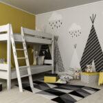 Kinderzimmer Hochbett Kinderzimmer Etagenbett 90x200 Lattenrost Massivholz Buche Hochbett Sofa Kinderzimmer Regal Regale Weiß