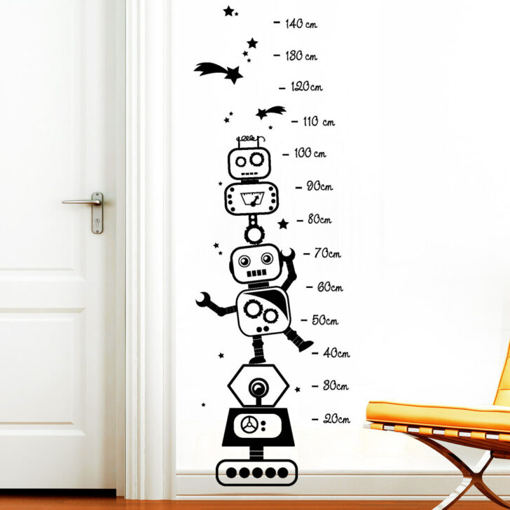 Medium Size of Roboter Mit Sternen Messlatte Wandtattoo Kinderzimmer Regal Sofa Weiß Regale Kinderzimmer Messlatte Kinderzimmer