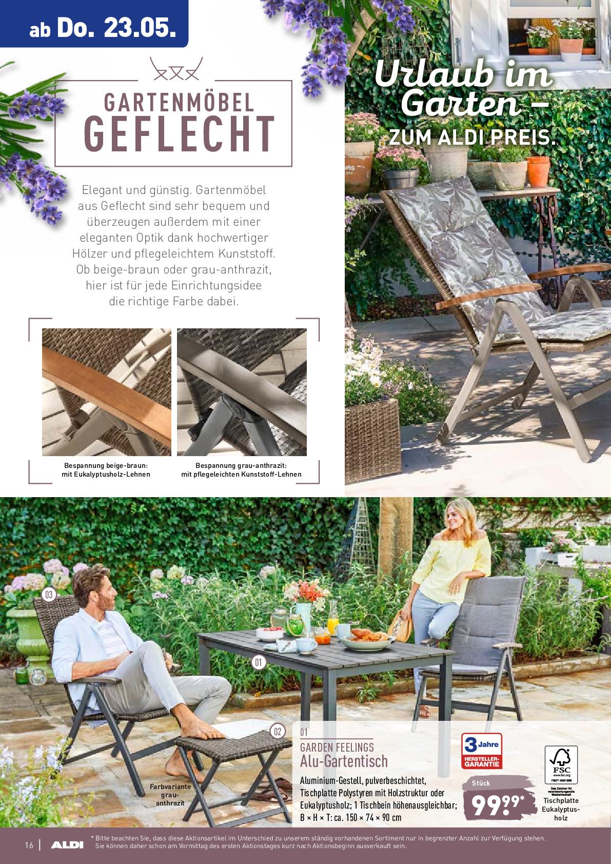 Full Size of Gartentisch Aldi Nord Prospekt Angebote Ab 20052019 Bis 25052019 Seite Relaxsessel Garten Wohnzimmer Gartentisch Aldi