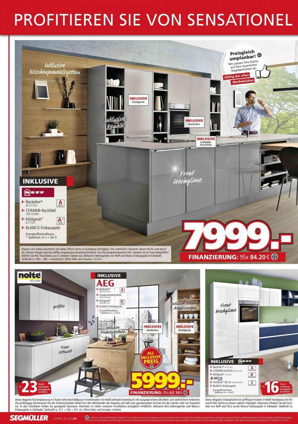 Full Size of Segmller Aktuelles Prospekt 1632020 2232020 Rabatt Kompass Küchen Regal Segmüller Küche Wohnzimmer Segmüller Küchen