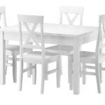 Esstisch Und Stühle Massivholz Essgruppe Mit Tisch 4 Sthlen Kiefer Waschwei Ausziehbar Sofa Runde Fenster Kleiner Weiß Bett 180x200 Lattenrost Matratze Esstische Esstisch Und Stühle