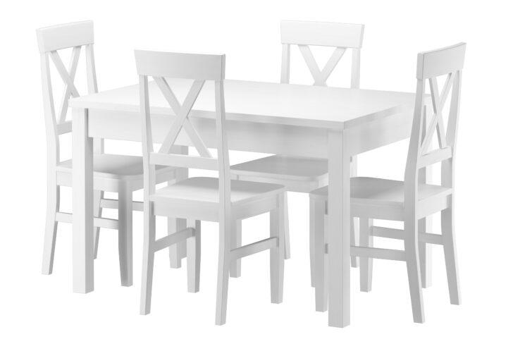 Medium Size of Esstisch Und Stühle Massivholz Essgruppe Mit Tisch 4 Sthlen Kiefer Waschwei Ausziehbar Sofa Runde Fenster Kleiner Weiß Bett 180x200 Lattenrost Matratze Esstische Esstisch Und Stühle