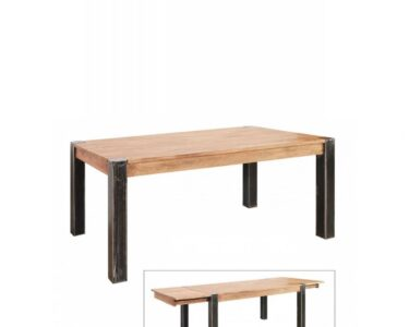 Holz Esstisch Esstische Esstisch Spring 4686 Hela Akazie Holz Eisen Schwarz Tisch Küche Modern Bad Unterschrank Betten Massivholz Altholz Ausziehbar Massiv Loungemöbel Garten