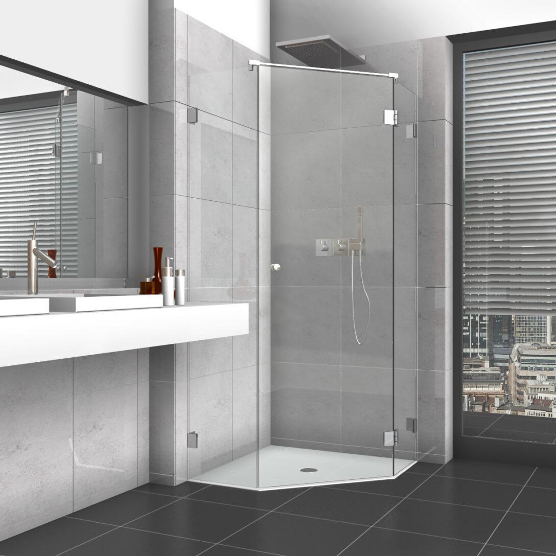 Large Size of Glastür Dusche 5 Eck Mit Glastr Und Zwei Seitenteilen Bluetooth Lautsprecher Raindance Wand Haltegriff Einhebelmischer Kaufen Duschen Badewanne Unterputz Dusche Glastür Dusche