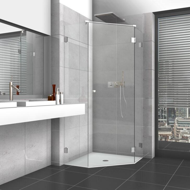 Medium Size of Glastür Dusche 5 Eck Mit Glastr Und Zwei Seitenteilen Bluetooth Lautsprecher Raindance Wand Haltegriff Einhebelmischer Kaufen Duschen Badewanne Unterputz Dusche Glastür Dusche