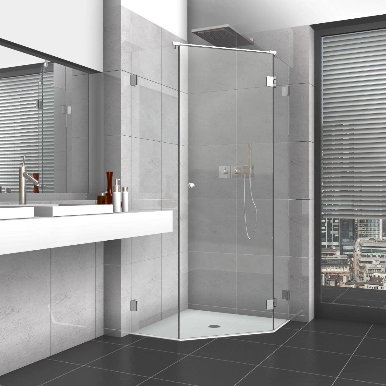 Full Size of Glastür Dusche 5 Eck Mit Glastr Und Zwei Seitenteilen Bluetooth Lautsprecher Raindance Wand Haltegriff Einhebelmischer Kaufen Duschen Badewanne Unterputz Dusche Glastür Dusche