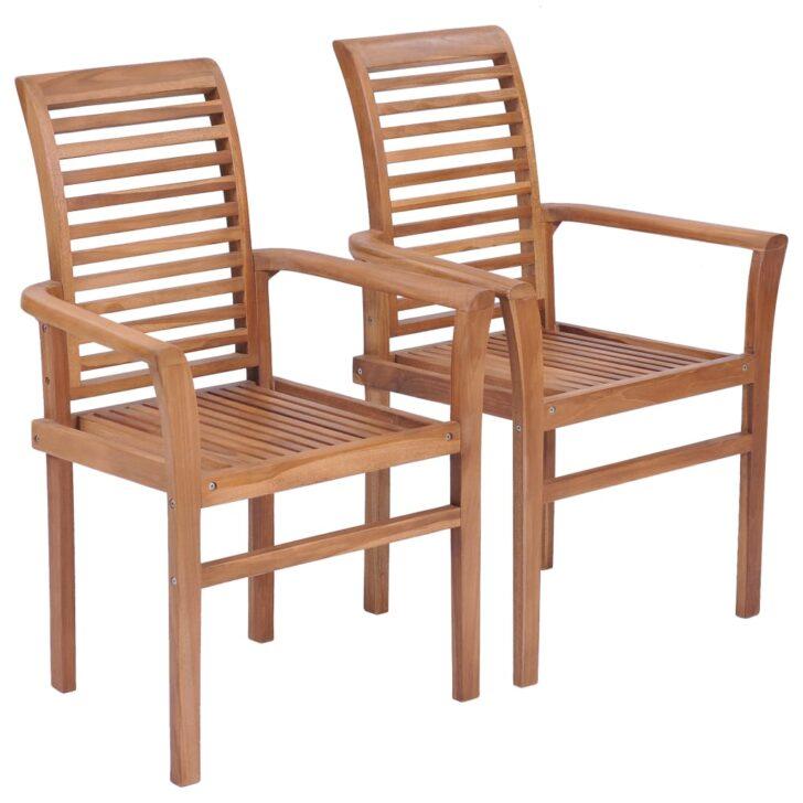 Medium Size of Esstischsthle 2 Stk Stapelbar Teak Massivholz Gitoparts Esstischstühle Esstische Esstischstühle