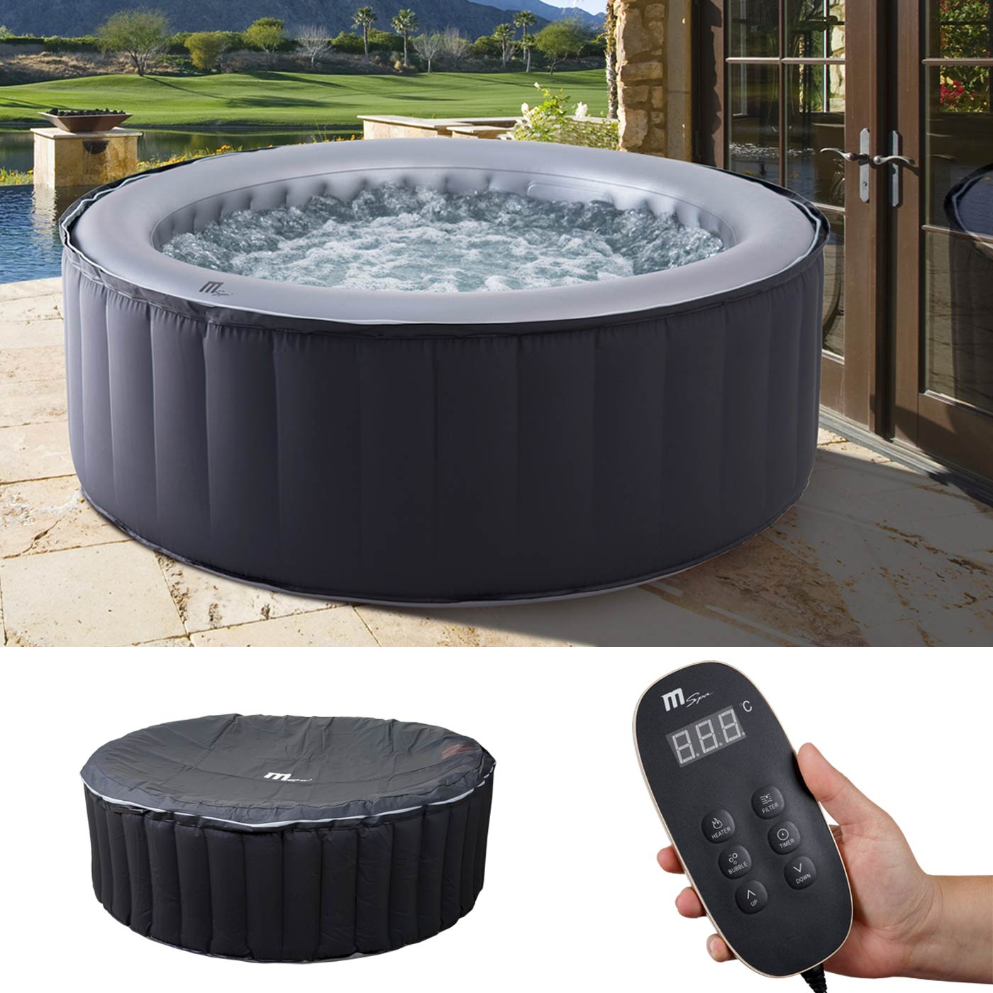Full Size of Whirlpool Mspa Hwc A62b Garten Aufblasbar Wohnzimmer Whirlpool Aufblasbar