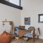 Kinderzimmer Wanddeko Oyoy Wandteppich Lwe Rauchblau Senfgelb 52x55cm Regal Regale Sofa Küche Weiß Kinderzimmer Kinderzimmer Wanddeko