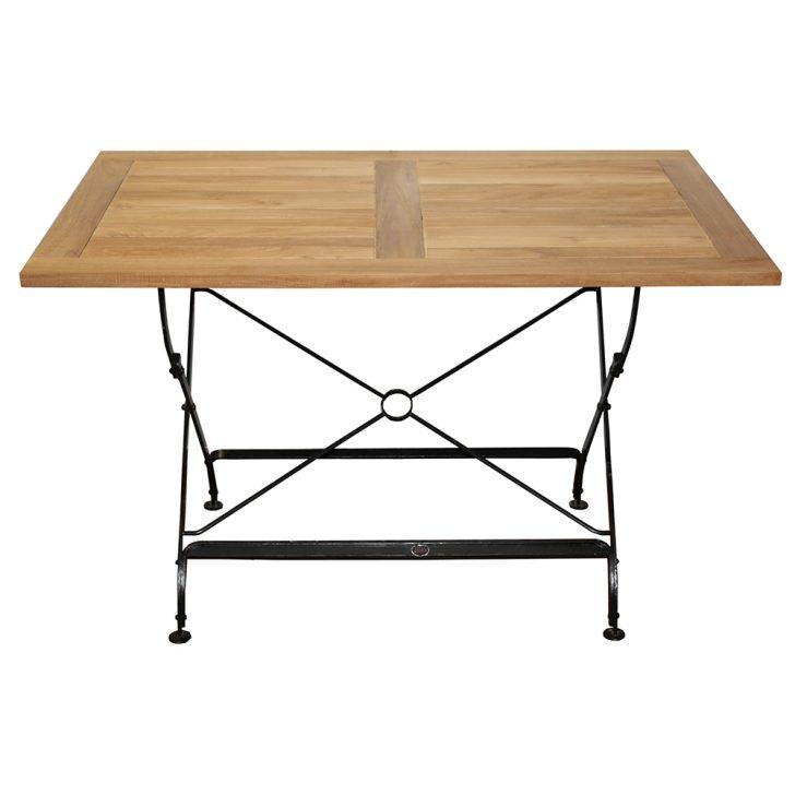 Medium Size of Zebra Tisch Florence Aus Flachstahl Und Teakholz Ausklappbares Bett Ausklappbar Wohnzimmer Gartentisch Klappbar