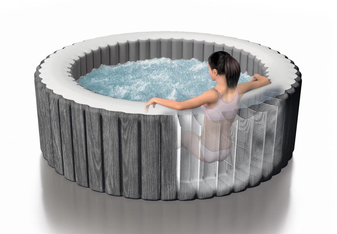 Large Size of Whirlpool Garten Aufblasbar Bauhaus Testsieger Aufblasbarer Winterfest Machen Outdoor Test 2018 Intex Inte28440 Rund Bubble Massage Pure Spa 196x71cm Wohnzimmer Whirlpool Aufblasbar
