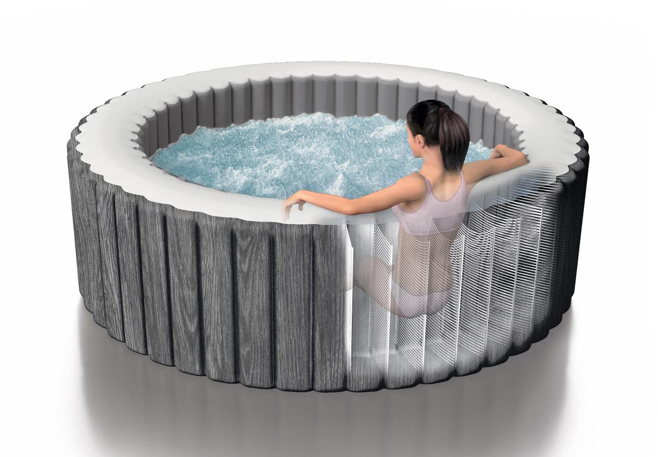 Full Size of Whirlpool Garten Aufblasbar Bauhaus Testsieger Aufblasbarer Winterfest Machen Outdoor Test 2018 Intex Inte28440 Rund Bubble Massage Pure Spa 196x71cm Wohnzimmer Whirlpool Aufblasbar