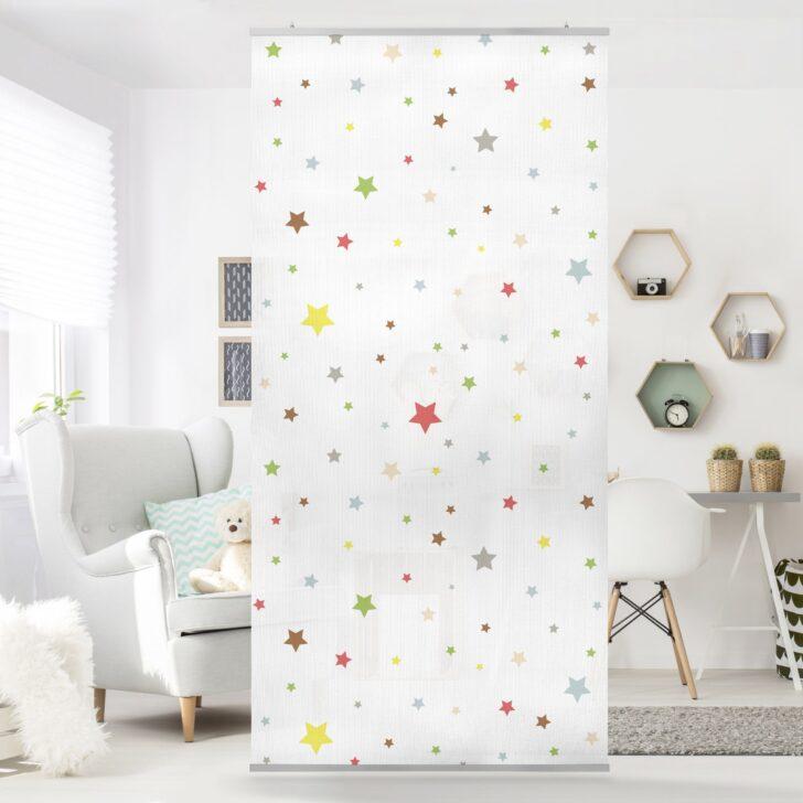 Medium Size of Raumteiler Kinderzimmer Noyk34 Bunte Sterne 250x120cm Regal Weiß Sofa Regale Kinderzimmer Raumteiler Kinderzimmer