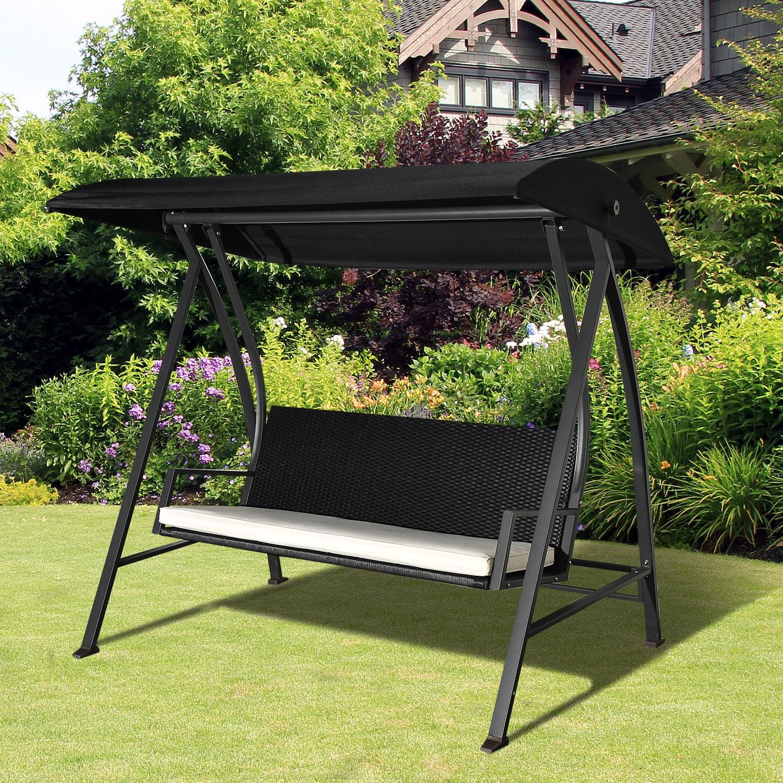 Full Size of Gartenschaukel Erwachsene Outsunny Hollywoodschaukel 3 Sitzer Mit Dach Polyrattan Wohnzimmer Gartenschaukel Erwachsene