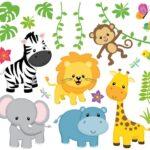 Wandtattoo Kinderzimmer Tiere Wandsticker Safari Lwe Giraffe Elefant Wandtattoos Sprüche Schlafzimmer Regal Wohnzimmer Küche Sofa Regale Bad Weiß Badezimmer Kinderzimmer Wandtattoo Kinderzimmer Tiere
