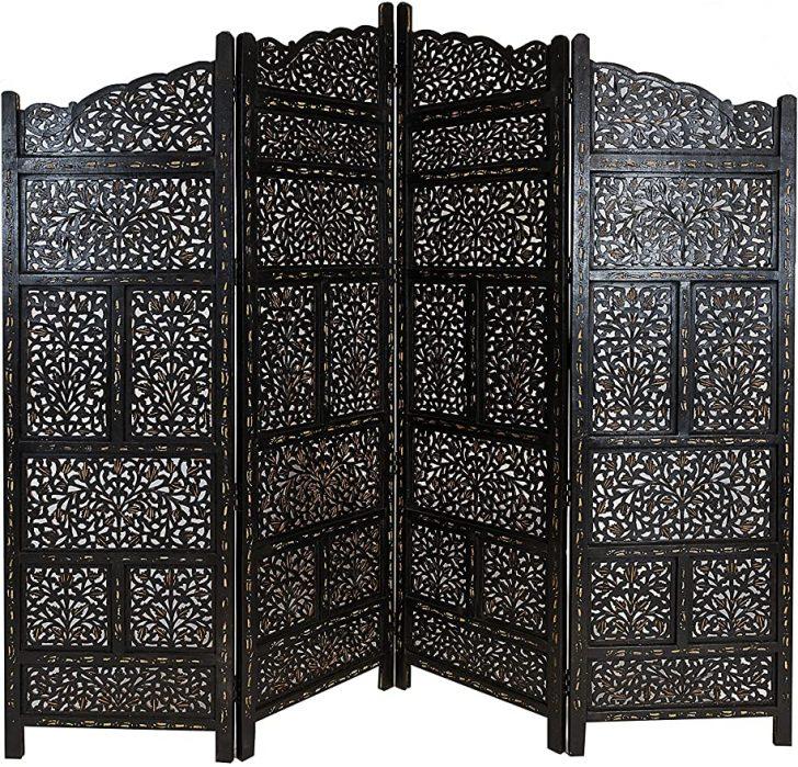 Medium Size of Paravent Balkon Orientalischer Raumteiler Aus Holz Saraswati 200 180cm Garten Wohnzimmer Paravent Balkon