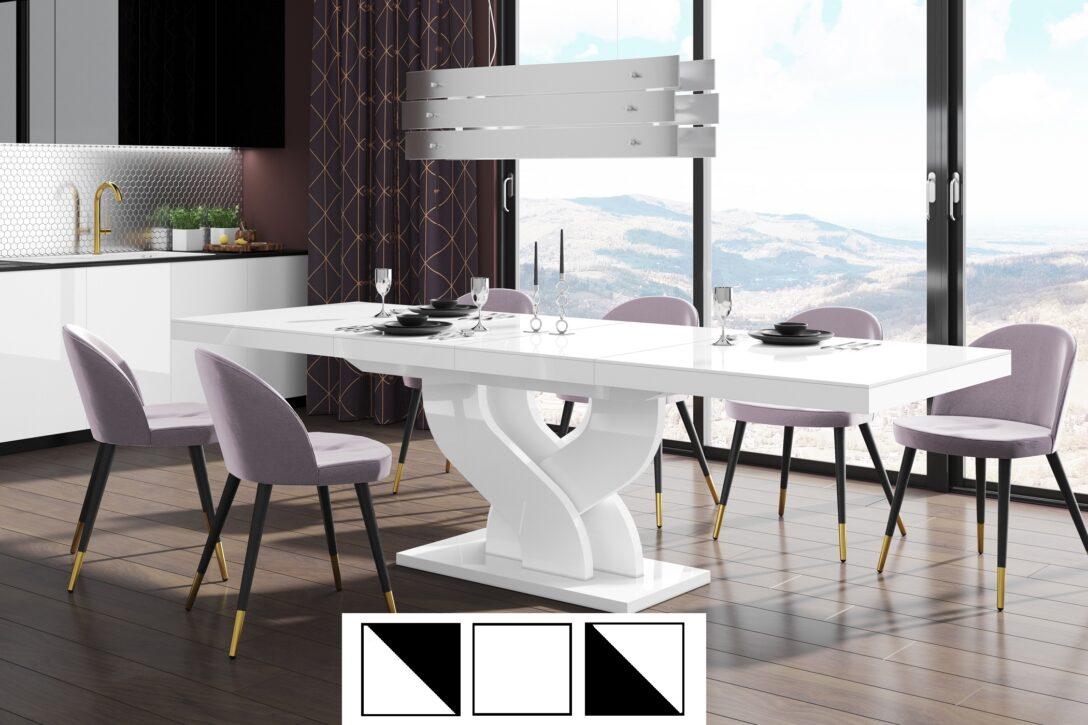 Large Size of Esstische Design Esstisch Tisch Heb 111 Wei Hochglanz Ausziehbar 160 Bis Massiv Moderne Kleine Holz Designer Runde Rund Massivholz Esstische Esstische