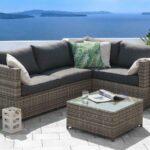 Terrassen Lounge Wohnzimmer Terrassen Lounge Rattan Gartenmbel Sitzgruppe Sitzgarnitur Loungemöbel Garten Holz Sofa Möbel Günstig Set Sessel