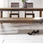 Esstisch Shabby Vintage Skandinavisch Kernbuche Nussbaum Weißer Akazie Holz Massiv Groß Rustikal Eiche Esstische Massivholz Kolonialstil Industrial Kaufen Esstische Esstisch Shabby