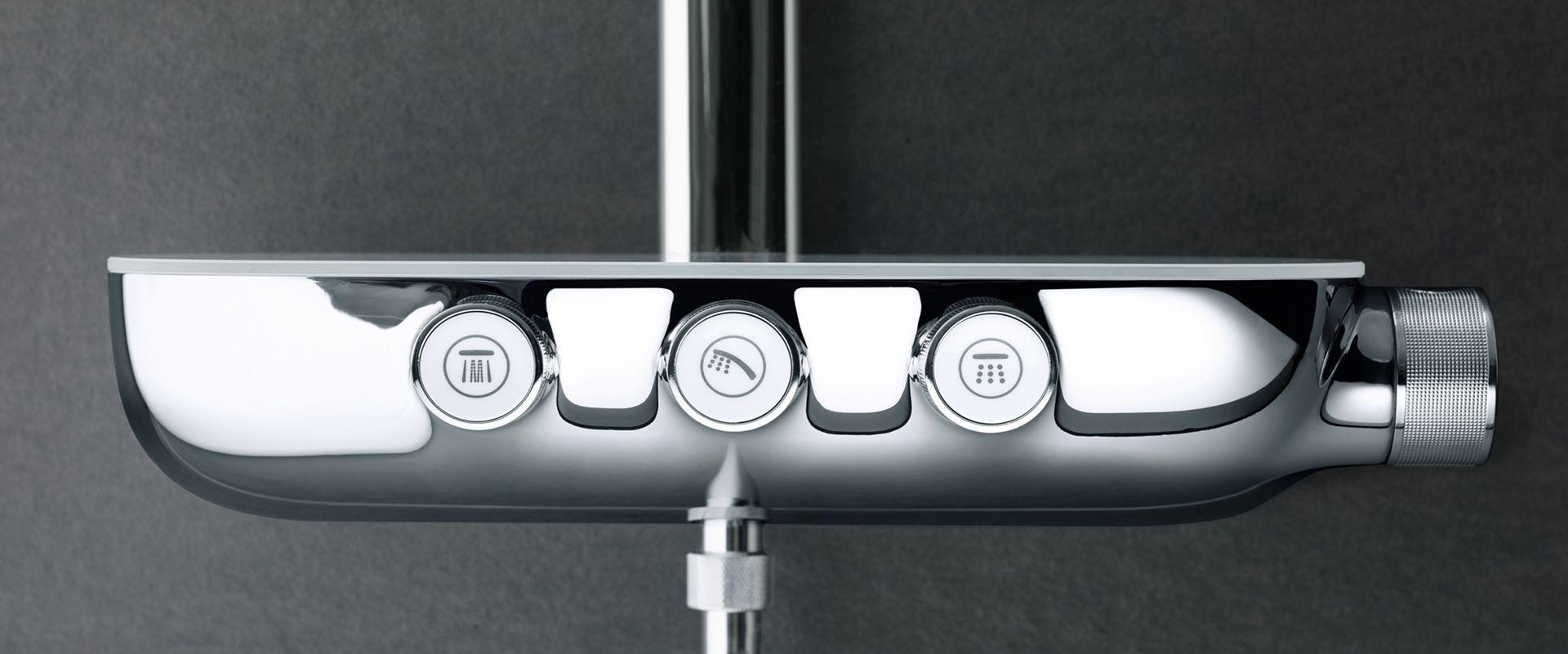 Full Size of Unterputz Armatur Dusche Bodengleiche Walkin Abfluss Barrierefreie Thermostat Mischbatterie Moderne Duschen Badewanne Mit Tür Und Bidet Hüppe 90x90 Dusche Grohe Thermostat Dusche