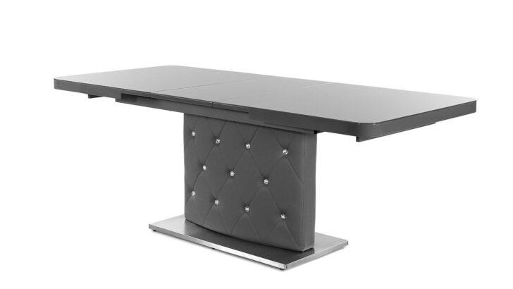 Esstisch Keno Tisch In Glas Grau Ausziehbar 160 200 Cm Ausziehbarer Esstische Moderne Weiss Massiv Musterring Mit Bank Venjakob Graues Regal Teppich Esstische Esstisch Grau