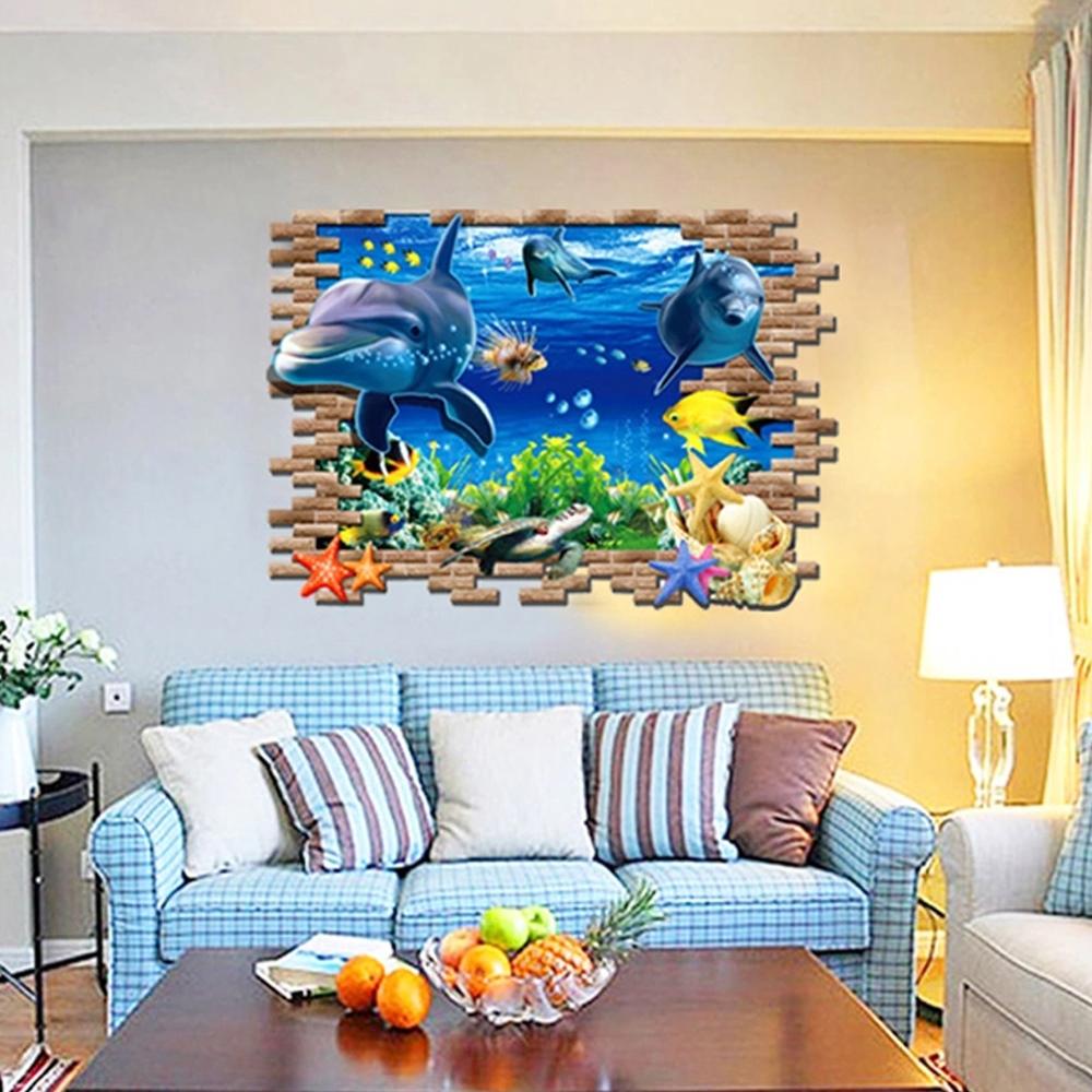 Full Size of 3d Wandtattoo Delfine Im Ozean Wandsticker Kinderzimmer Deko Regale Regal Wandtatoo Küche Weiß Sofa Kinderzimmer Wandtatoo Kinderzimmer