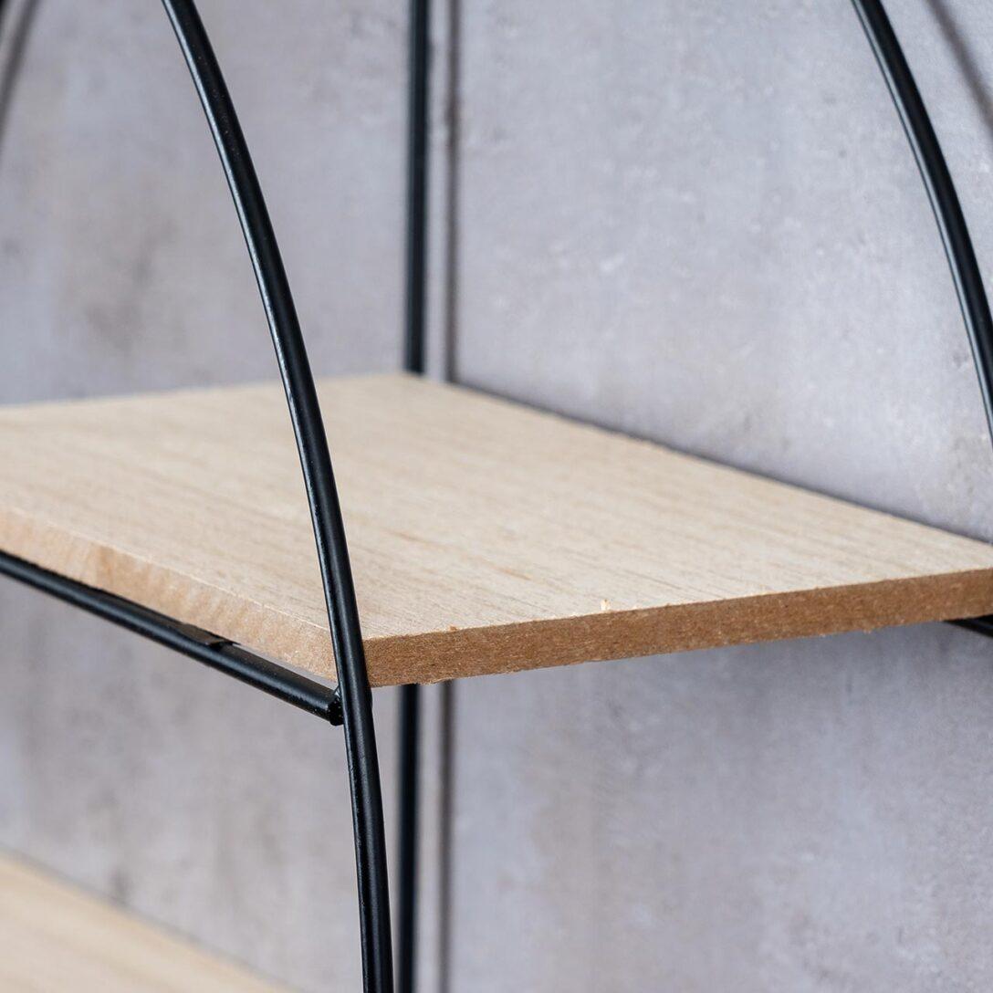 Large Size of Wandregal Rund Regal 38x11cm Metall Schwarz Holz Mdf Natur Modern Würfel Kinderzimmer Weiß Schlafzimmer Industrie Küchen Dvd Regale Tv Cd Buche Kisten Regal Regal Industrie