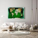 Leinwandbild Weltkarte Grn Pinnwand Bett Modern Design Deckenleuchte Schlafzimmer Wohnzimmer Bilder Moderne Fürs Deckenlampen Küche Holz Landhausküche Wohnzimmer Pinnwand Modern