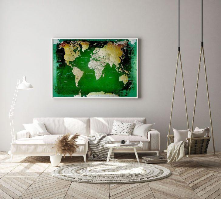 Medium Size of Leinwandbild Weltkarte Grn Pinnwand Bett Modern Design Deckenleuchte Schlafzimmer Wohnzimmer Bilder Moderne Fürs Deckenlampen Küche Holz Landhausküche Wohnzimmer Pinnwand Modern