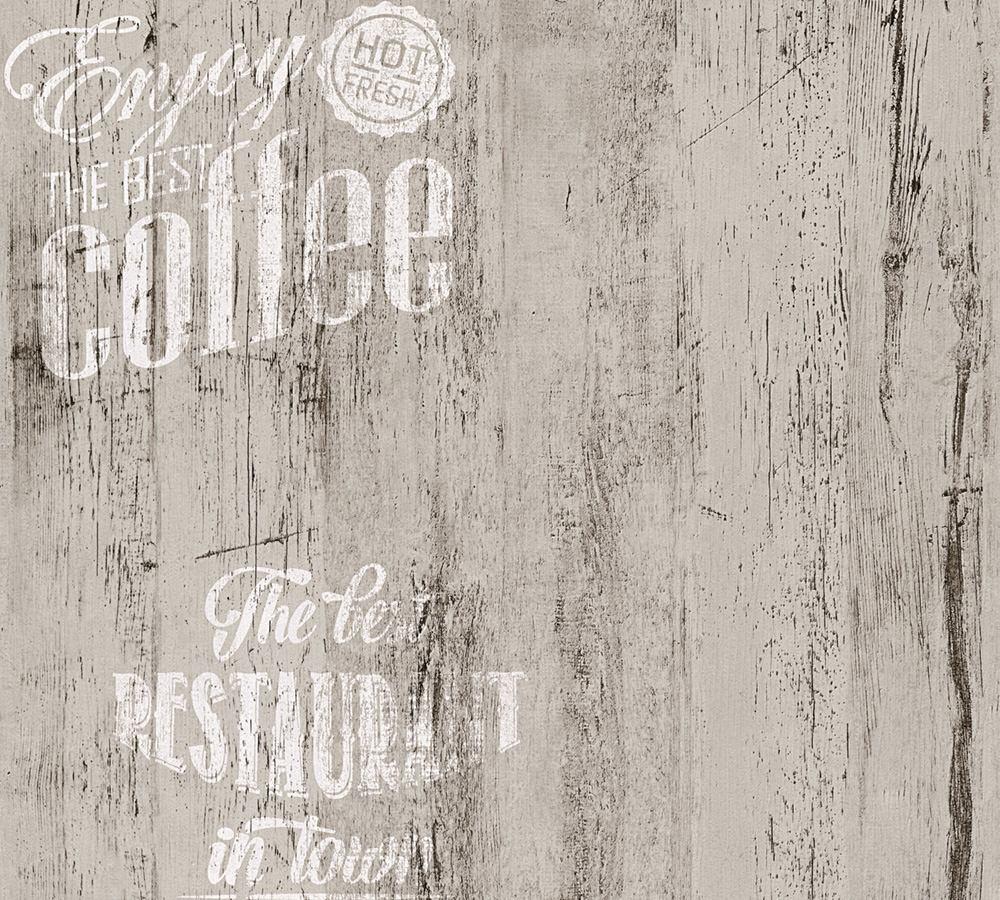 Full Size of Tapete Coffee Kche Bistro Grau As Creation 33481 4 Freistehende Küche Rolladenschrank Kreidetafel Sideboard Vorratsschrank Vorhänge Mini Mit Geräten Obi Wohnzimmer Küche Tapete