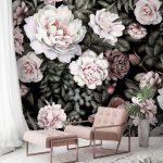Fototapete Blumen Wohnzimmer Fototapete Blumen Tapete Wei Rose Aquarell Bltter Flche Muster Fototapeten Wohnzimmer Fenster Küche Schlafzimmer