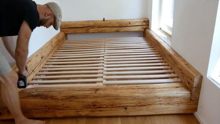Medium Size of Balkenbett Bett Selber Bauen Modern Design Mit Bettkasten 180x200 Wasser Betten 160x200 Hasena 200x200 Niedrig Kaufen 140x200 Ausziehbares Münster Tagesdecke Wohnzimmer Bett Selber Bauen