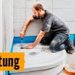 Dusche Einbauen Dusche Dusche Einbauen Handwerker Obi Lassen Installateur Kosten Bodengleiche Bad Neue Ebenerdige Preis Begehbare Youtube Ohne Abfluss Duschen Mit Wannentrger